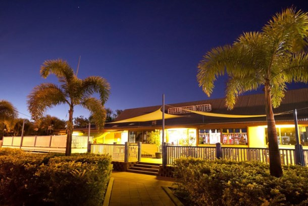 The Royal Hotel is located in the small North West Queensland town of Hughenden, approximately 380km west of Townsville